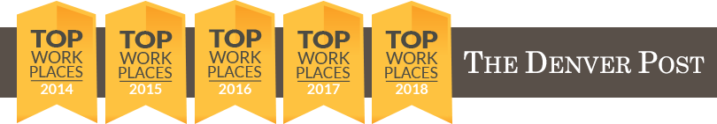 Top Work Place 2014-2018 by The Denver Post